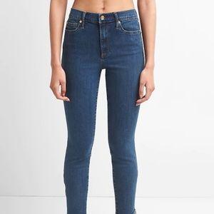 Gap Super High Rise True Skinny Ankle Jeans Blue